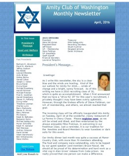 April 2016 Newsletter - featured